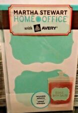 """Martha Stewart Home Office Avery Labels 2 1/2"""" X 3 3/4"""" 4pks 48 total lables #A6"""
