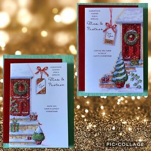 Christmas Wishes For A Special Mum & Partner. Christmas Card