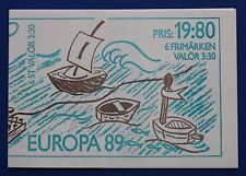 Sweden (1738a) 1989 EUROPA - Children's Games MNH booklet