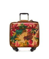 """Patricia Nash Floral Canvas Trolley Velino Spinner nwts 16"""" carry on ret $299"""