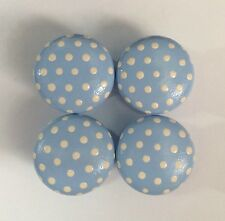Carino A Baby Blue & white polka dot 40mm PINO Cassetto Manopole x 1