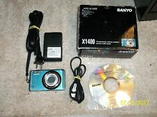 SANYO VPC-X1400 CAMERA 14 MEGAPIXEL OPTICAL 4.0X ZOOM COMPLETE IN BOX SET