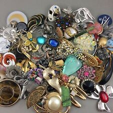 Mixed Damaged Brooch Pin Jewelry Upcycle Crafters Lot 65+ Upcycle Craft Junk