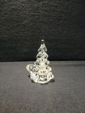New Old Stock - Biedermann - Glass Christmas Tree Candle Holder - FREE SHIP