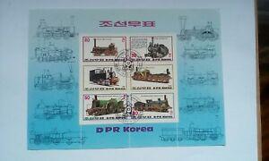 "Stamp Sheet , Korea "" Train Engines"".🌏🇬🇧📲"