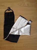 M & S Men's 100% Silk Black/white Reversible Scarf One Size BNWT RRP£19.50