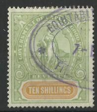 SOUTH AFRICA / CAPE OF GOOD HOPE QV 1898 TEN SHILLINGS REVENUE USED