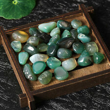 50g 1.8cmNatural Quartz Green Agate Stone Crystal Rock Original Mineral Healing