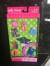 Lot Of BARBIE KELLY Tommy DOLL CLOTHING 5 OUTFITS 3 PAIR SHOES New Club 2