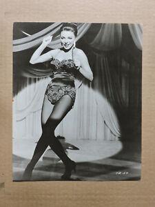 Joan Collins dancing original leggy portrait photo 1960 Seven Thieves