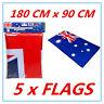 5 X JUMBO AUTHENTIC AUSTRALIAN FLAG NATIONAL DESIGN AUSSIE SOUVENIR PARTY AP