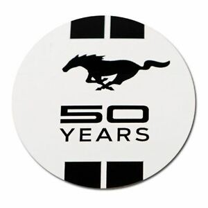 Mustang 50 Years Logo Decal - Available in Black or White Backgrounds