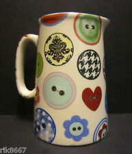 Heron Cross Pottery Buttons Chintz English 1/2 Pint Milk Jug