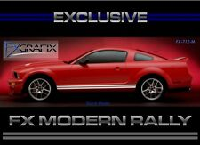 2005 - 2009 Ford Mustang GT500 Modern Factory Style Rally Side Rocker Stripes