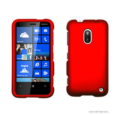 FOR NOKIA LUMIA 620 PHONE RED HARD SKIN SNAP-ON CASE COVER ACCESSORY