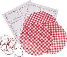 Marmeladenglas-Deckchen-Set rot-karriert Marmeladen-Etiketten Einmachglas Deko