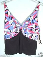 COCO REEF Plus Swimsuit Separates Sz 22 / 44D Bra Size Underwire Tankini Top NWT