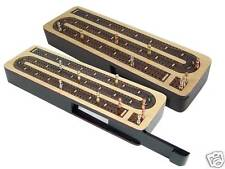 Continuous Cribbage Board 3 Tracks Maple / Rosewood - Sliding Lid