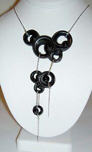 $1,245 LALIQUE France China Mood Lijiang Black Crystal Sterling 925 Necklace NIB