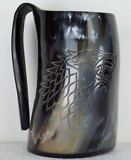 Game Of Thrones Stark Sigil Wolf Viking Drinking Horn Mug Cup Beer Wine Mead Ale