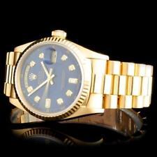 Rolex 18K YG Day-Date Men's Diamond Watch Lot 379