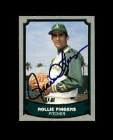 Rollie Fingers Hand Signed 1988 Pacific Baseball Legends Oakland A's Autograph