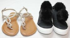 Lot of 2 Pairs Women's Size 8.5 Shoes Mossimo Sneakers Merona Sandals Black Gold