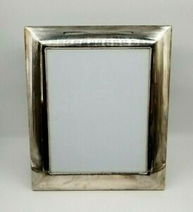 """Vintage Ralph Lauren Glass with Silver-Plate Photo Frame Easel 13"""" x 11"""""""
