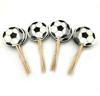 24 PCS SOCCER BALL SPORTS CUPCAKE CAKE TOPPERS BIRTHDAY PARTY