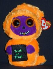 """TY BEANIE BOOS - SKELTON the 6"""" HALLOWEEN GHOST / GHOUL - MINT with MINT TAG"""