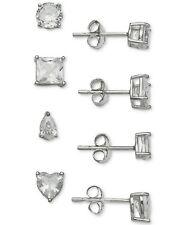 Giani Bernini 4-pc. Set Cubic Zirconia Varied Stud Earrings in Sterling Silver