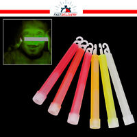 """6 x 6"""" Glow Sticks Neon Colors Birthday Rave Party Favour Disco Safety Light"""