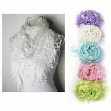 Tassels Triangle Floral Scarves and Wraps for Women