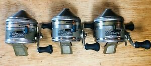 3 Vintage Zebco One Classic FeatherTouch Cast Control Spincast Fishing Reels