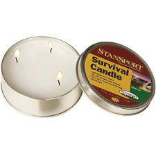 STANSPORT Emergency 3 Wick Survival Candle 36 Hour Wilderness Outdoor Metal Case
