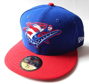 Clearwater Threshers Stars & Stripes New Era 59Fifty Fitted Hat Cap Size 7 1/8