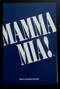 Mamma Mia programme Prince Edward Theatre Feb 2004 ed Vivien Parry Alexandra Jay