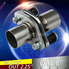 """2 1/4"""" 2.25"""" ID Stainless Exhaust Spherical Joint Spring Bolt Flange 2 Bolts"""