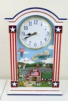 The Danbury Mint God Bless America Clock Tested Works Keeps Perfect Time