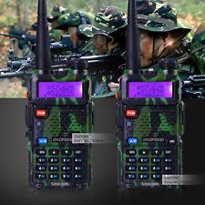 2 x BaoFeng UV-5R Green 136-174/400-520MHz 2 ham Way 5R radio Walkie Talkie USA