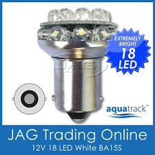 12V 18-LED BA15S 1156 WHITE GLOBE-Auto/Reverse/Indicator Boat/Caravan Light Bulb