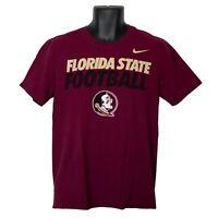 Florida State Seminoles Football FSU Nike Mens T-Shirt Red Size M Medium
