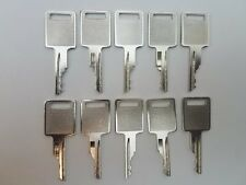 (10) Bobcat, Case Excavator Heavy Equipment Keys with Logo on 1 side Bobcat