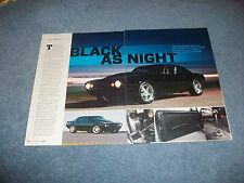 "1967 Chevy Camaro RestoMod Article ""Black as Night"""