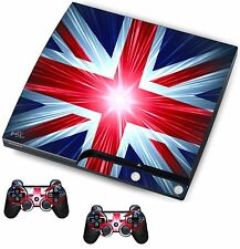 Union Jack Sticker/Skin PS3 Playstation 3 Console/Remote controllers,psk12
