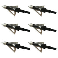 6PCs Archery3 Blade Broadheads 100grain Hunting Crossbow Compound Bow Arrow Tips