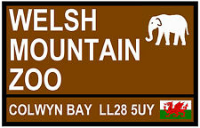 STREET / ROAD SIGNS (WELSH MOUNTAIN ZOO) - SOUVENIR NOVELTY FRIDGE MAGNET - GIFT