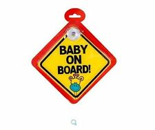 Baby Child on Board Safety Car Window Sign Boy Girl suction cup