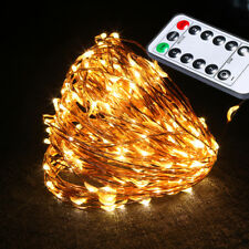 LED Warm White String Fairy Decoration Lights Christmas Xmas Tree Party Outdoor