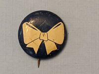 Vintage 1950's 60's White Ribbon Blue Pinback Button Pin -Rare!